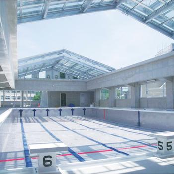 中野区立南中野中学校プール可動式上屋