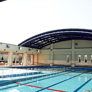 県立川島ひばりが丘養護学校プール可動式上屋