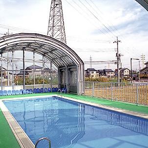 晴山幼稚園 プール可動式上屋