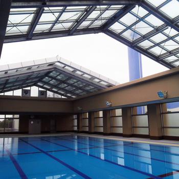 都立東部特別支援学校プール可動式上屋