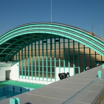 都立駒場高等学校体育施設プール可動式上屋