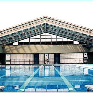 京都市立新町小学校プール可動式上屋