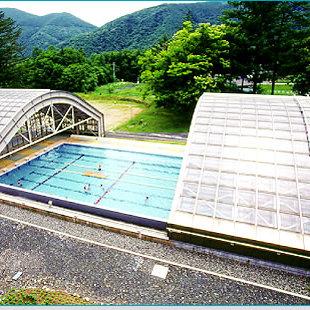安曇村立大野川小中学校プール可動式上屋